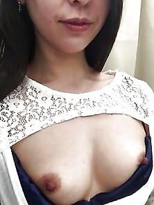 Japanese Milf Flashing Boobs