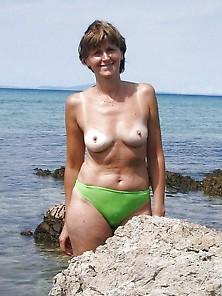 Topless Italian Milf