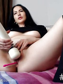 Hottest Big Tits Slut Masturbating And Squirting On Cam