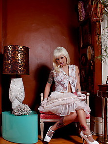She Wears White Lace And Looks Deliciously Virginal And Arousing