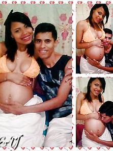 Morenita Tetona Embarazada
