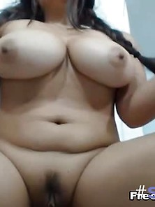Hot Busty Babe Dildoing Her Pussy