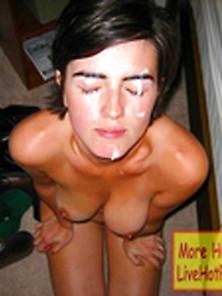 Amateur Teen Slut On Her Knees Deepthroats & Gets A Nice Facial