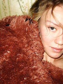 Hot Teen Girl Striptease With Plush Teddy Bear