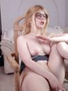 Pretty Blonde Teen Illegaldream Masturbates Using Her Dildo On H
