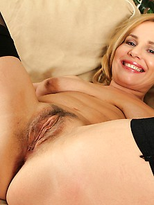 Steffi's Spread Legs And Open Hairy Milf Pussy