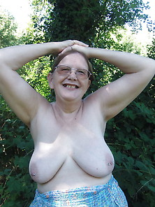 Naughty Mature Flashing In Summer Dress