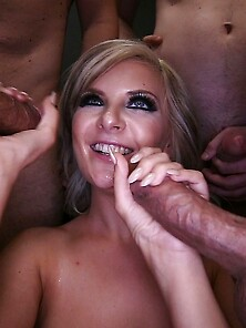 Horny Blonde Alessandra Gets Her All Sexual Fantasies Fulfilled