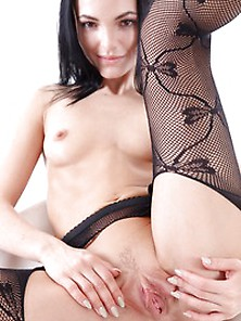 Sapphira In Her Fishnets