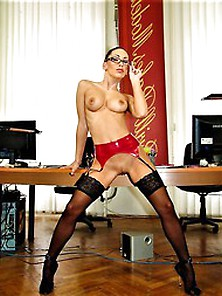 Mya Diamond Feeling Naughty At The Office